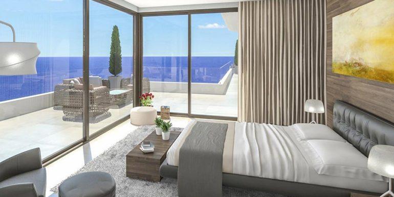Waterfront luxury villa in Jávea Granadella - Bedroom with fantastic sea views - ID: 5500693