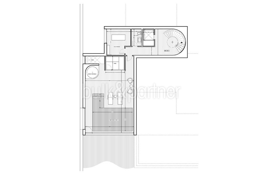 Waterfront luxury villa in Jávea Granadella - Floor plan basement - ID: 5500693