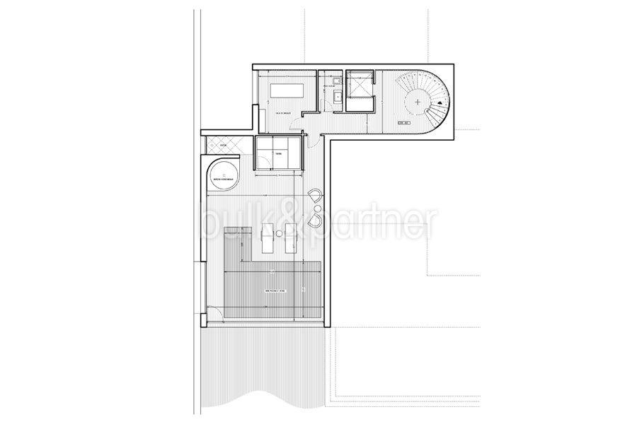 Erste Meereslinie Luxusvilla in Jávea Granadella - Grundriss Untergeschoss - ID: 5500693