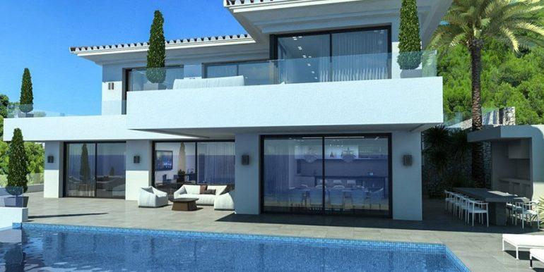 Waterfront luxury villa in Jávea Granadella - Pool terrace and bbq - ID: 5500693