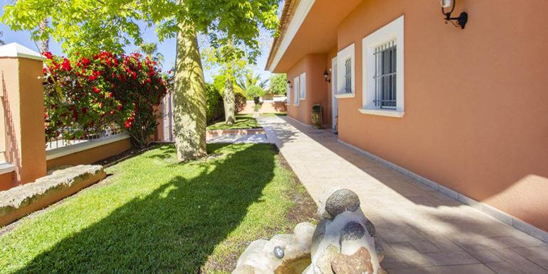 Luxusvilla in bester Lage mit atemberaubendem Meerblick in Moraira Coma de los Frailes - Eingangsbereich aussen - ID: 5500661