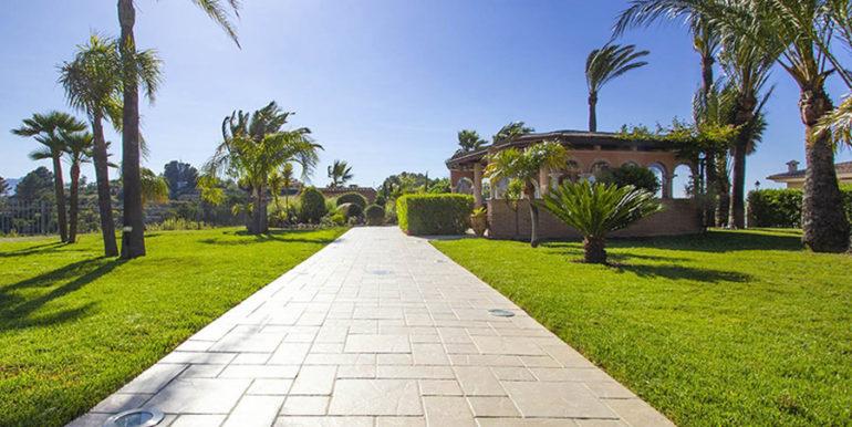 Luxusvilla in bester Lage mit atemberaubendem Meerblick in Moraira Coma de los Frailes - Garten und Grillplatz - ID: 5500661
