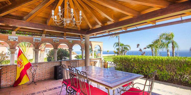 Luxusvilla in bester Lage mit atemberaubendem Meerblick in Moraira Coma de los Frailes - Meerblick vom Grillplatz - ID: 5500661