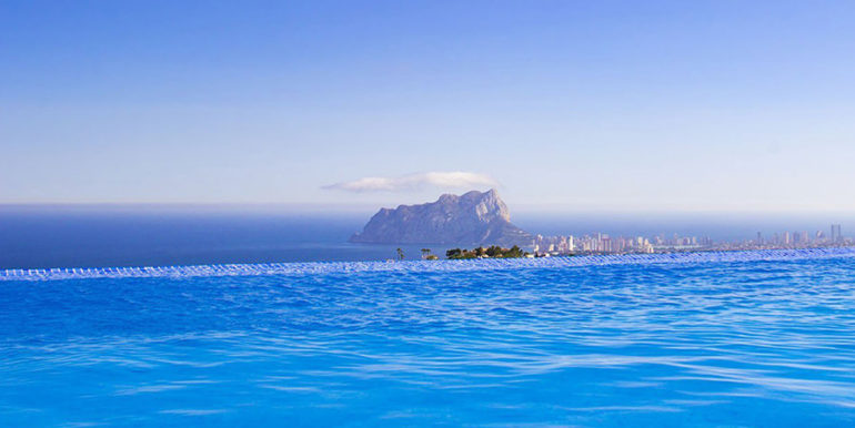 Luxusvilla in bester Lage mit atemberaubendem Meerblick in Moraira Coma de los Frailes - Meerblick vom Überlaufpool