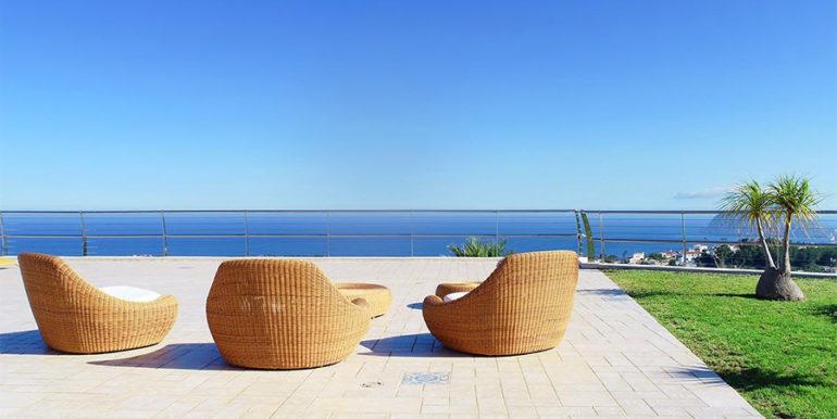 Luxusvilla in bester Lage mit atemberaubendem Meerblick in Moraira Coma de los Frailes - Meerblick von der Poolterrasse