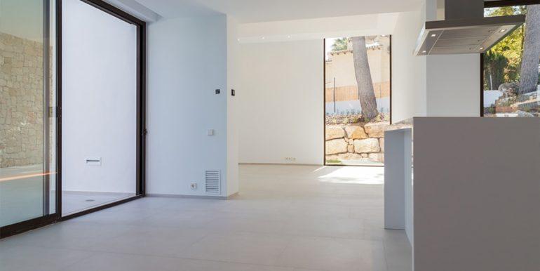 Villa de lujo de diseño moderno en Moraira Moravit - Cocina abierta y zona de estar - ID: 5500684 - Arquitecto Ramón Esteve