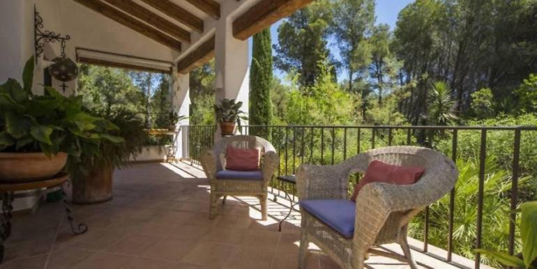 Exclusive Finca property with privacy in Jávea Cuesta San Antonio/La Plana - Covered terrace guest house - ID: 5500679