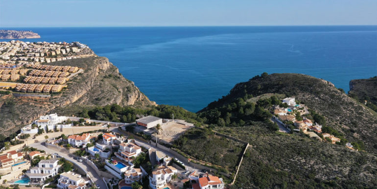Modern luxury villa with fantastic sea views in Moraira El Portet - Plot with fantastic sea views - ID: 5500696