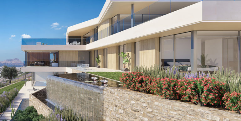 Modern luxury villa with fantastic sea views in Moraira El Portet - Side view - ID: 5500696