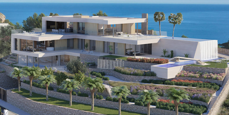 Modern luxury villa with fantastic sea views in Moraira El Portet - Villa total with sea views - ID: 5500696