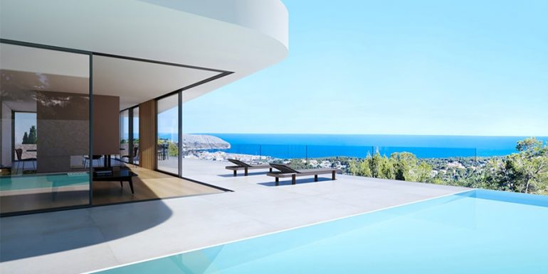 Luxury villa with incredible sea views in Moraira Benimeit - Pool terrace - with sea views - ID: 5500697 - Architect CÍRCULOAZUL