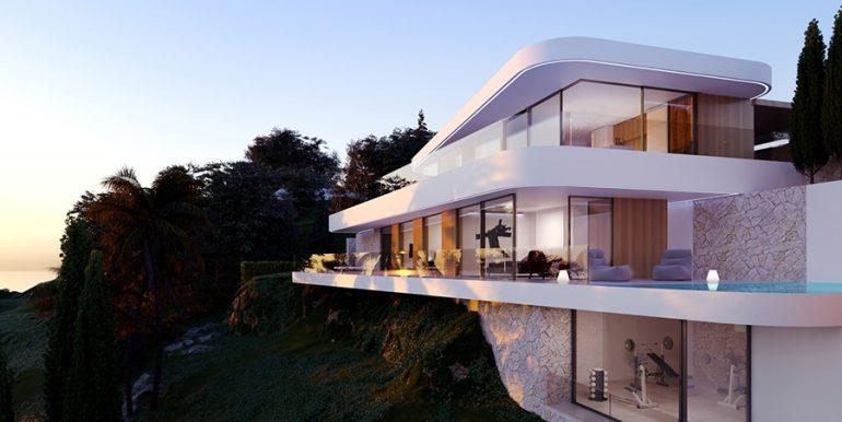 Luxury villa with incredible sea views in Moraira Benimeit - Side view - ID: 5500697 - Architect CÍRCULOAZUL