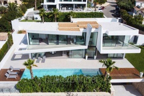 Villa de lujo con hermosas vistas al mar en Moraira Benimeit - Vista aérea - ID: 5500671 - Arquitecto Ramón Gandia Brull (RGB Arquitecto)