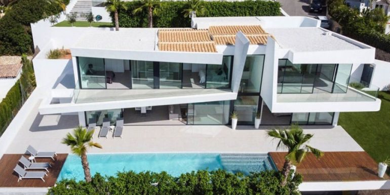 Luxury villa with beautiful sea views in Moraira Benimeit - Aerial view - ID: 5500671 - Architect Ramón Gandia Brull (RGB Arquitectos)