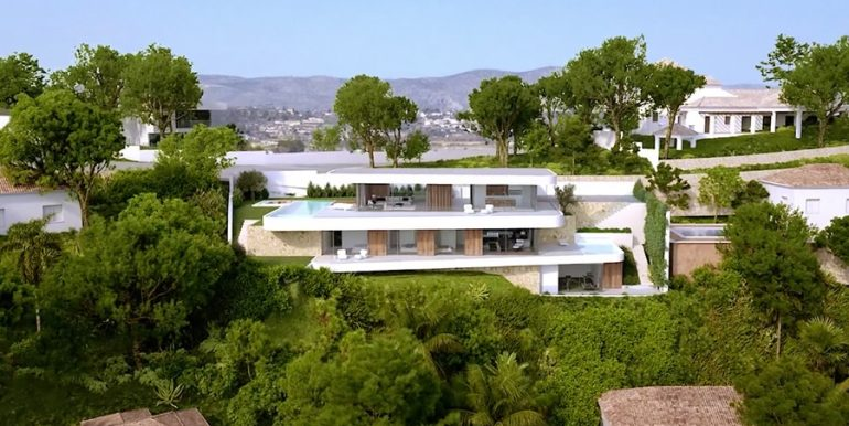 Luxury villa with incredible sea views in Moraira Benimeit - Frontal - ID: 5500697 - Architect CÍRCULOAZUL