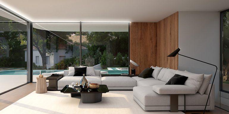 Luxury villa with incredible sea views in Moraira Benimeit - Living area - ID: 5500697 - Architect CÍRCULOAZUL