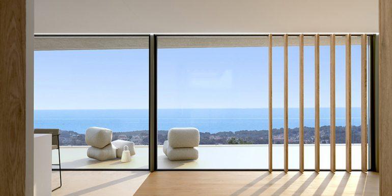 Luxury villa with incredible sea views in Moraira Benimeit - Sea views from living area - ID: 5500697 - Architect CÍRCULOAZUL