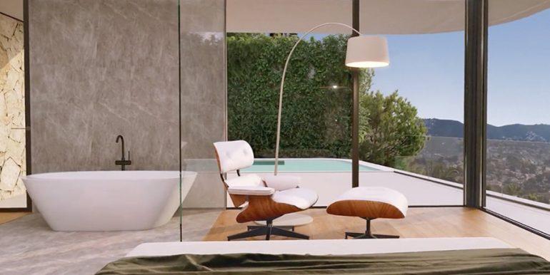 Luxury villa with incredible sea views in Moraira Benimeit - Masterbedroom with open bathtub - ID: 5500697 - Architect CÍRCULOAZUL