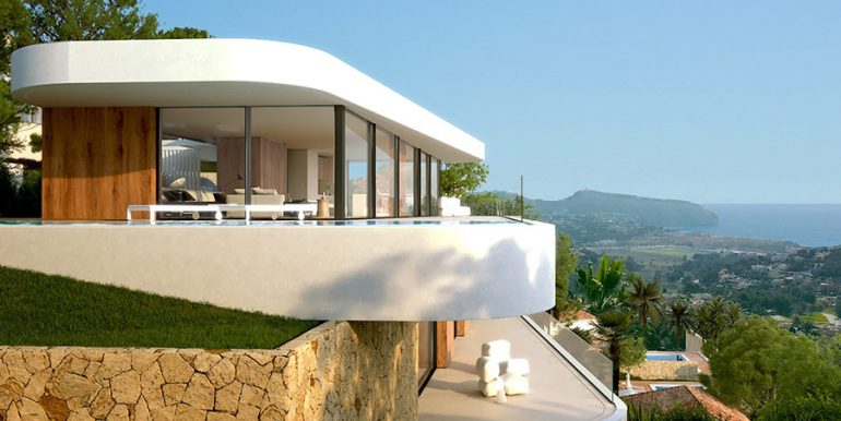 Luxury villa with incredible sea views in Moraira Benimeit - Open and covered terraces - ID: 5500697 - Architect CÍRCULOAZUL