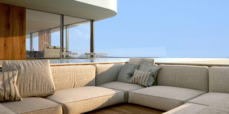 Luxury villa with incredible sea views in Moraira Benimeit - Pool area - ID: 5500697 - Architect CÍRCULOAZUL