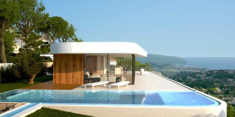 Luxury villa with incredible sea views in Moraira Benimeit -Top floor and pool terrace - ID: 5500697 - Architect CÍRCULOAZUL