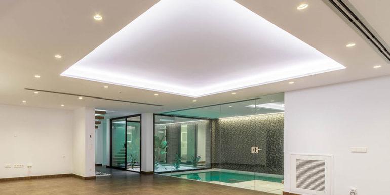 Villa de lujo de nueva construcción en Jávea Balcón al Mar - Sótano con zona de fitness y spa - ID: 5500698