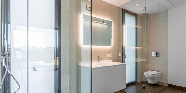 Villa de lujo de nueva construcción en Jávea Balcón al Mar - Baño con ducha - ID: 5500698