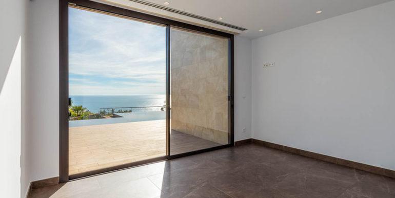 Villa de lujo de nueva construcción en Jávea Balcón al Mar - Dormitorio con vistas al mar - ID: 5500698