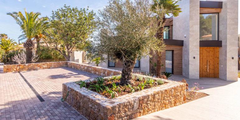 Villa de lujo de nueva construcción en Jávea Balcón al Mar - Zona de entrada al exterior - ID: 5500698