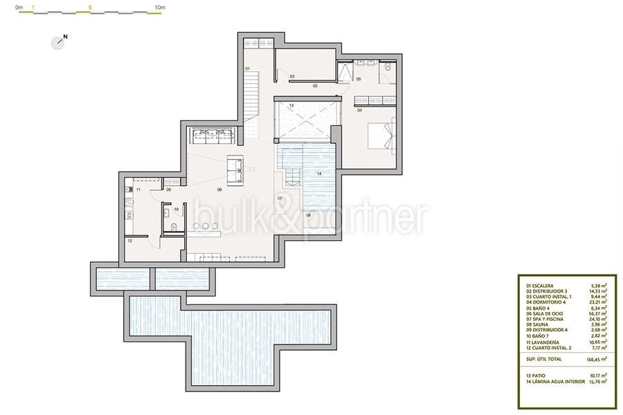 Villa de lujo de nueva construcción en Jávea Balcón al Mar - Plan sótano - ID: 5500698