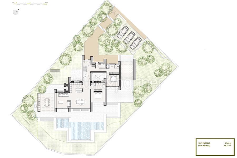 Villa de lujo de nueva construcción en Jávea Balcón al Mar - Plan de infraestructuras - ID: 5500698