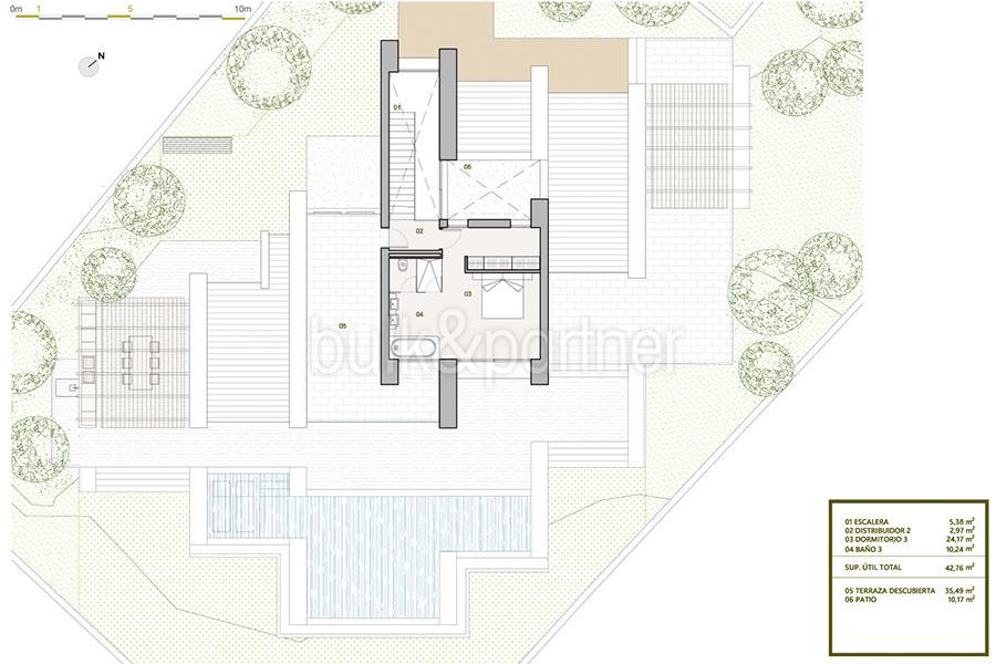 Villa de lujo de nueva construcción en Jávea Balcón al Mar - Plan planta alta - ID: 5500698