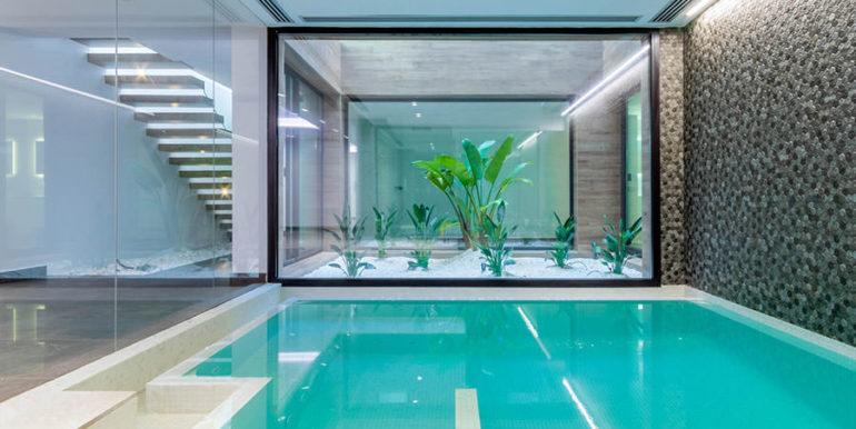 Villa de lujo de nueva construcción en Jávea Balcón al Mar - Piscina cubierta - ID: 5500698