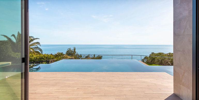 Villa de lujo de nueva construcción en Jávea Balcón al Mar - Zona de estar y vistas al mara - ID: 5500698