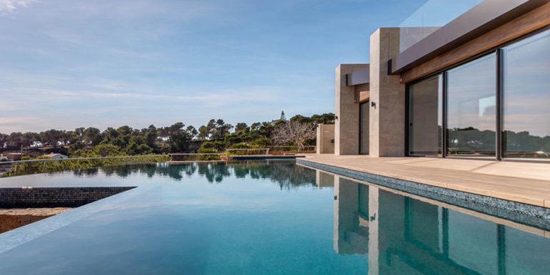 Villa de lujo de nueva construcción en Jávea Balcón al Mar - Piscina y terraza - ID: 5500698