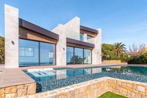 Luxury new build villa in Jávea Balcón al Mar - Pool and villa - ID: 5500698