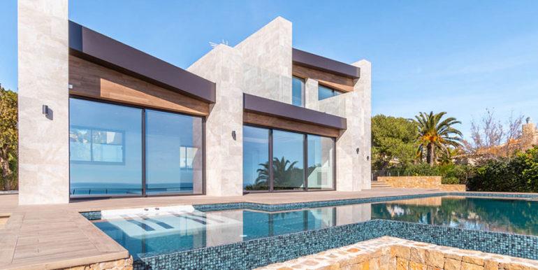 Villa de lujo de nueva construcción en Jávea Balcón al Mar - Piscina y villa - ID: 5500698