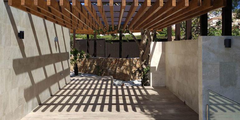 Villa de lujo de nueva construcción en Jávea Balcón al Mar - Terraza lateral - ID: 5500698