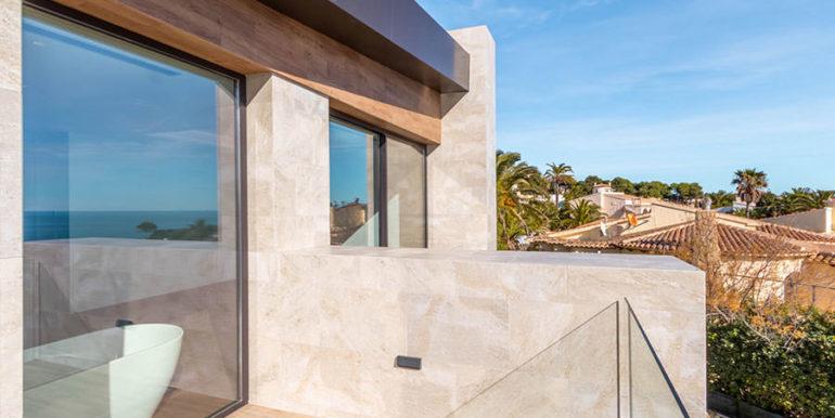 Villa de lujo de nueva construcción en Jávea Balcón al Mar - Terraza privada desde el dormitorio principal - ID: 5500698