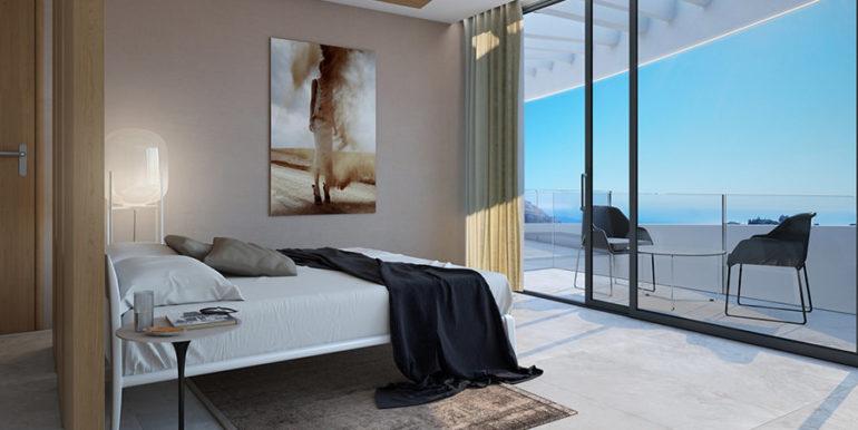 Moderna villa con inmejorables vistas al mar en Altéa Hills - Dormitorio con vistas al mar - ID: 5500666 - Arquitecto Ramón Gandia Brull (RGB Arquitecto)