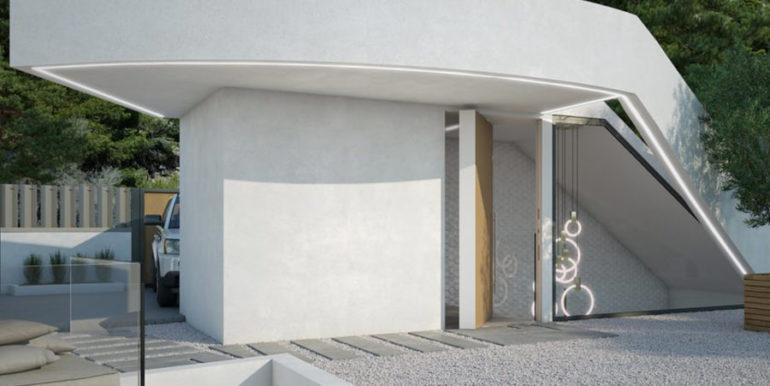 Moderna villa con inmejorables vistas al mar en Altéa Hills - Entrada - ID: 5500666 - Arquitecto Ramón Gandia Brull (RGB Arquitecto)