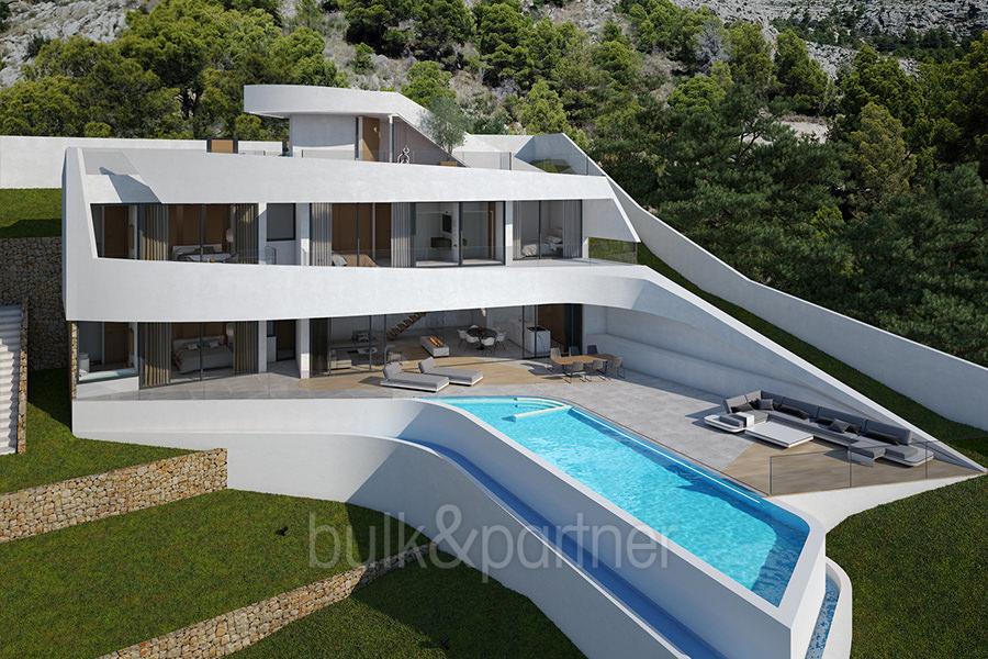 Moderna villa con inmejorables vistas al mar en Altéa Hills