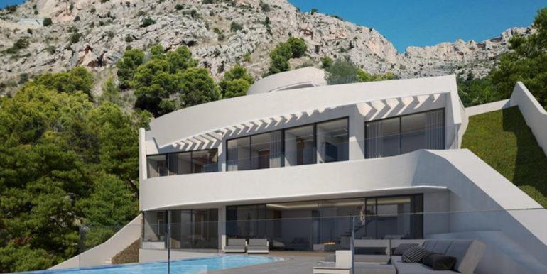 Moderna villa con inmejorables vistas al mar en Altéa Hills - Villa y terraza de la piscina - ID: 5500666 - Arquitecto Ramón Gandia Brull (RGB Arquitecto)