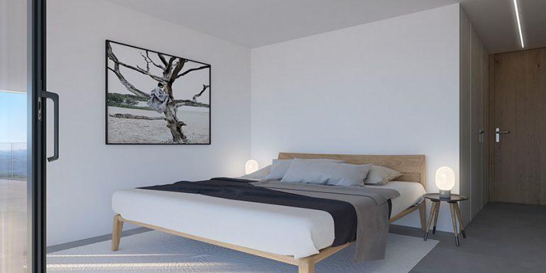Exclusive design villa in Altéa la Vella - Bedroom with terrace - ID: 5500699 - Architect Ramón Gandia Brull (RGB Arquitectos)
