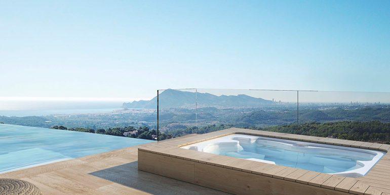 Exclusive design villa in Altéa la Vella - Jacuzzi with sea views - ID: 5500699 - Architect Ramón Gandia Brull (RGB Arquitectos)