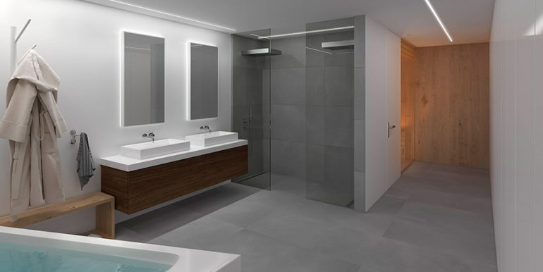 Exclusive design villa in Altéa la Vella - Master bathroom with shower, sauna and dressing area - ID: 5500699 - Architect Ramón Gandia Brull (RGB Arquitectos)