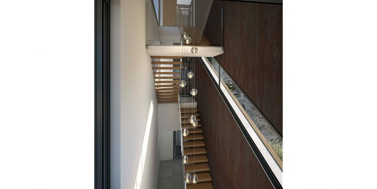 Exclusive design villa in Altéa la Vella - Staircase and elevator - ID: 5500699 - Architect Ramón Gandia Brull (RGB Arquitectos)