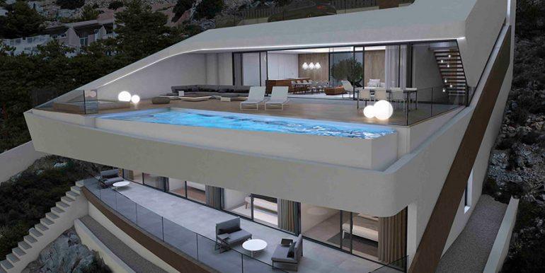 Exclusive design villa in Altéa la Vella - Villa illuminated - ID: 5500699 - Architect Ramón Gandia Brull (RGB Arquitectos)