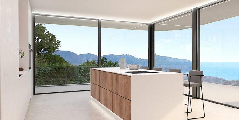 Luxusvilla mit unglaublichem Meerblick in Moraira Benimeit - Offene Küche - ID: 5500697 - Architekt CÍRCULOAZUL